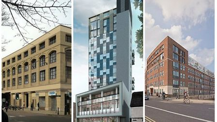 Building conversions: An artist's impression of the Castle House development, Westlegate Tower and a
