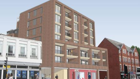 Architect drawings of the planned redevelopment of Grosvenor House on Prince of Wales Road. Picture