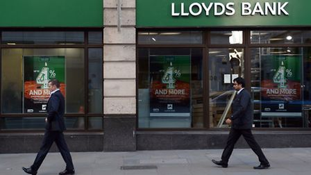 File photo dated 28/10/14 of a branch of Lloyds Bank in the City of London, as the taxpayers' stake