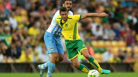 Wes Hoolahan scored on his Norwich City re-appearance in the 3-0 friendly win against Coventry City.