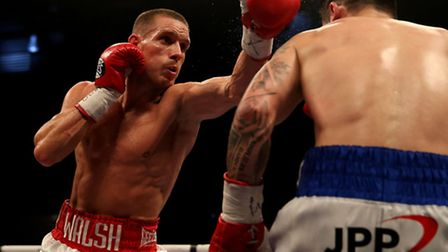 Liam Walsh on the way to victory over Troy James.