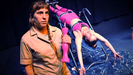 Norwich-based theatre company The Sun Apparatus, including Katherine Vince(in pink) and Dana Etgar r