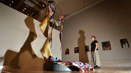 British Art Show 8 at Norwich Castle. Work by Linder.Picture: ANTONY KELLY
