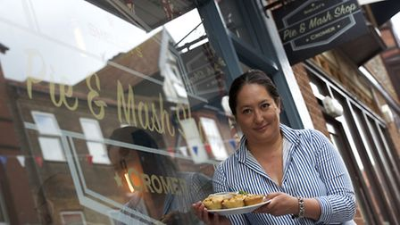 Michele Dickinson, owner of Shelley's pie and mash shop in Cromer which has been listed on the Best