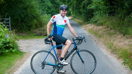 Dr Paul Everden who is taking part in the Prudential RideLondon 100-mile challenge in aid of the Bri