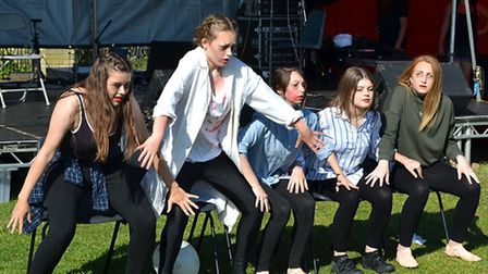 The Waiting Room Dance Group perform.
