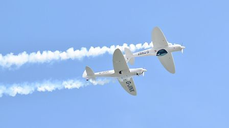 The launch of the Great Yarmouth air show set for June 2017.The Twister Duo performing in the sky ab
