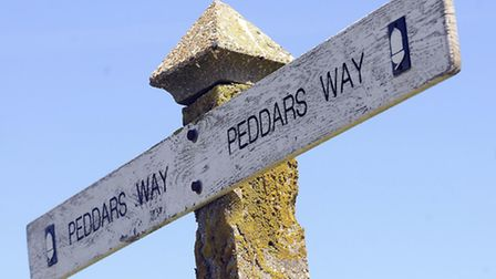 A sign for the ancient Peddars Way. Picture: Matthew Usher.