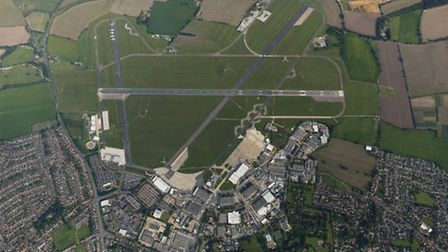 Aerial view of Norwich International Airport
