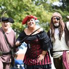 Wells Pirate Festival. Pictured are (from left) Joyce Trett, Kate Taylor-Nevill and Dave Barber. Pic