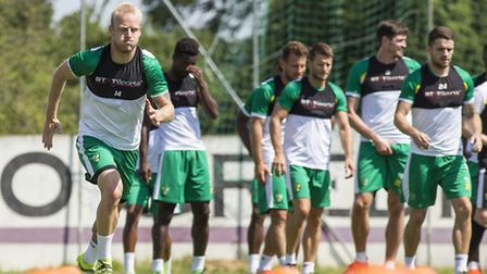 Steven Naismith of Norwich City during training at Adeg Meisterfrost Arena, Burgenland, Austria.Pict