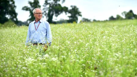 Richard McMullen, a conservation adviser with Norfolk FWAG, pictured at High Ash Farm, Caistor St Ed