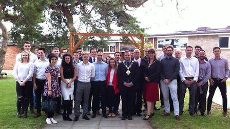The Thetford Young Business Group's summer social event at the Charles Burrell Centre. Mayor of Thet