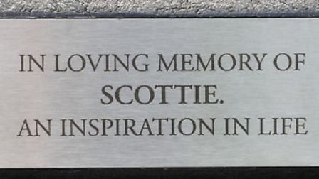 The family of Scott Smith pay tribute to him one-year after he died in a road crash.PHOTO: Nick Butc