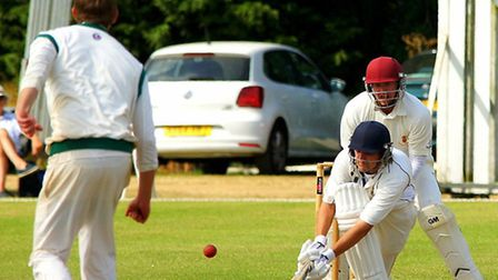 Action from day one of Norfolk's match against Lincolnshire at Manor Park in July 2015, James Spelm