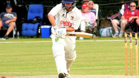 Action from day one of Norfolk's match against Lincolnshire at Manor Park in July 2015, James Hale