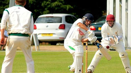 Action from day one of Norfolk's match against Lincolnshire at Manor Park in July 2015, James Spelma