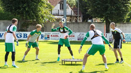Michael McGovern joined the rest of Norwich City's keeper on tour in Austria last week. Picture by E