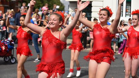 The annual Beccles carnival parade through the centre of the town. Picture: James Bass