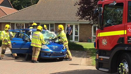 Firefighters from Holt staged a mock exercise during the family fun day.