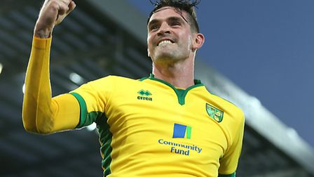 Norwich City striker Kyle Lafferty is being touted with Championship rivals Cardiff City. Picture by