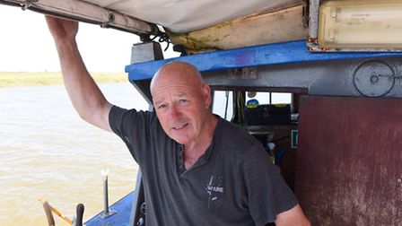 Paul Dyble was the skipper aboard the angling boat Sea Quest which began sinking when out at sea.Pic