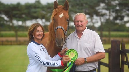 Olympic champion Big Star, is owned by Gary and Beverley Widdowson. Also pictured is Kelling Star. P