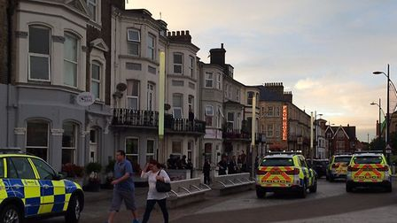 The police operation on Marine Parade, Great Yarmouth, August 19, 2016.