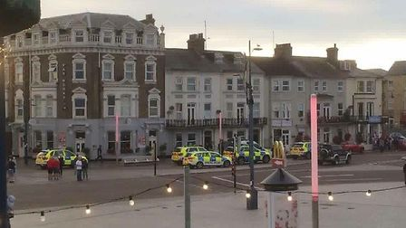 Police arrested a man and a woman during the operation in Great Yarmouth. Photo: Jamie Skinner
