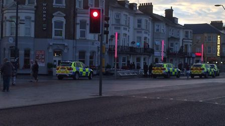 Police arrested a man and a woman during the operation in Great Yarmouth.