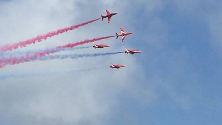Red Arrows at Cromer Carnival. Picture: Lorna Williams