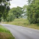 The A1067 at Little Ryburgh, near Fakenham, where a head-on collison occurred between a VW Golf and