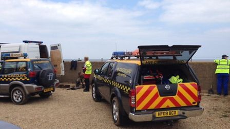 Bomb dispoal unit at Brancaster. Picture. Mike Walsh
