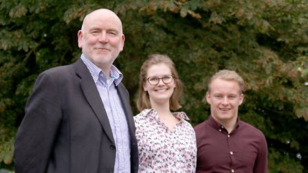 Trevor Price, partner at LSI Architects, with new starters Lucy Furniss and James Potter. Picture: S