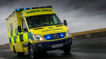 A woman was taken to hospital after falling from a horse in Hethel.