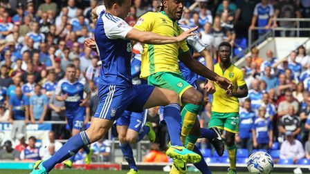 Cameron Jerome should be fit to feature for Norwich City against Cardiff. Picture by Paul Chesterton
