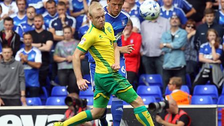 Steven Naismith was deployed up front at Birmingham City in the absence of Cameron Jerome. Picture: