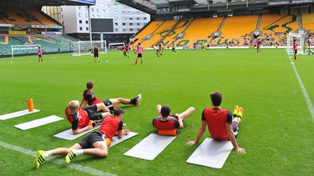 Norwich City hold an open training day at Carrow Road for the fans.PHOTO BY SIMON FINLAY