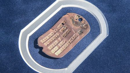 Repatriation of GI Dog Tags at Knettishall on August 12, 2016. The Dog Tag. Photos by Will Drummee.