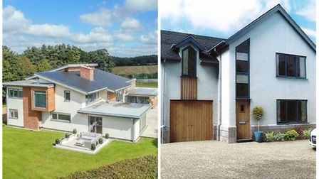 Eco-friendly houses in Norfolk: The Meadows (Left) and a CGI image of a new four bedroom property on