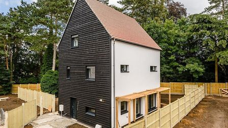 Eco-friendly houses: Carrowbeeck Meadow, Drayton High Road. Photo: William H. Brown
