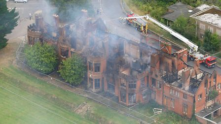 Fire at Little Plumstead Hospital. Date: 14 Aug 2016. Picture: Mike Page