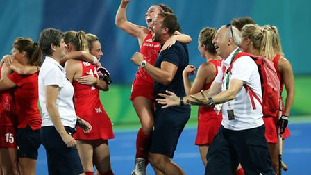 Great Britain were thrilled to beat New Zealand in the womens semi-final. Photo: PA