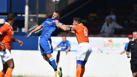 Jake Reed, middle, was back among the goals for the Blues in midweek. Picture: JAMES BASS