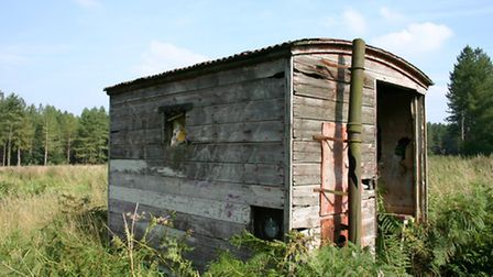 The Sheep in the Brecks project. Pictured: An old Breckland shepherd's hut, with a chimney for the s