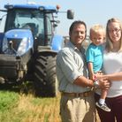 Neil Clark and his wife Alyson, here pictured with their two year-old son Alfie, will be driving a t