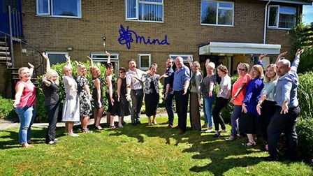 Staff at Norwich Mind celebrating it's 50th anniversary.Picture: ANTONY KELLY