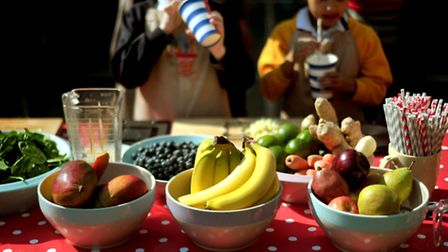Embargoed to 0001 Wednesday April 6File photo of children in front of bowls of fruit as young childr