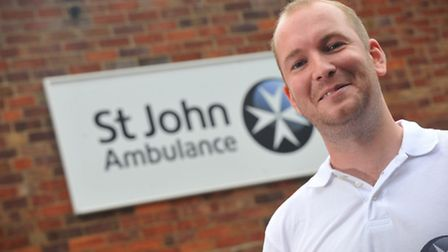 Robert Hayes from St John Ambulance, who saved a man from dying of a heart attack.PHOTO BY SIMON FIN