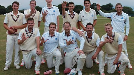Swardeston face the camera after clinching yet another EAPL title. Back row, left to right, Matthew
